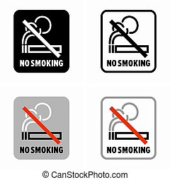 seguridad, prohibición, fumar, no, salud