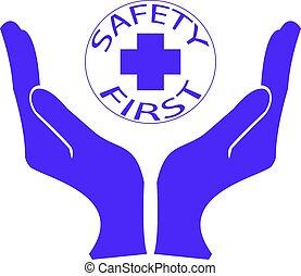 seguridad, salud, primero, o, logotipo, ambiental, símbolo