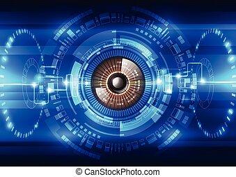 seguridad, vector, sistema, plano de fondo, resumen, futuro, ilustración de tecnología