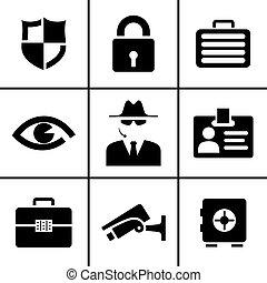 Seguridad y iconos de seguridad listos