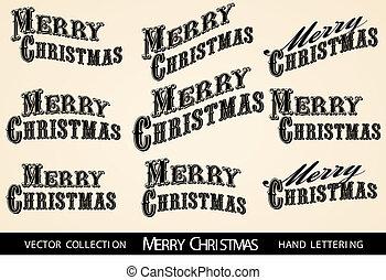 Selección feliz carta de Navidad