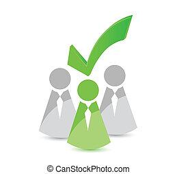 seleccionado, diseño, líder, ilustración, icono