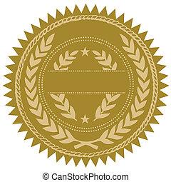 Sella de oro Vector