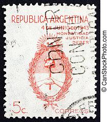 sello, argentina, brazos, 1943
