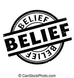 sello de goma, creencia