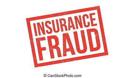 sello de goma, fraude, seguro