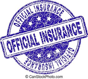 Sello de sello de seguridad oficial de Grunge