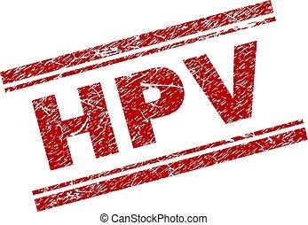 Sello de sello de sello de sello de sellos HPV arañado