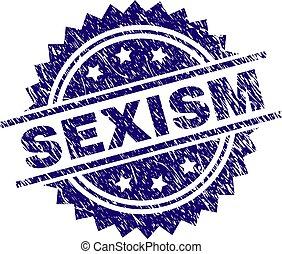 Sello de sello de sello de sellos sexism del grunge