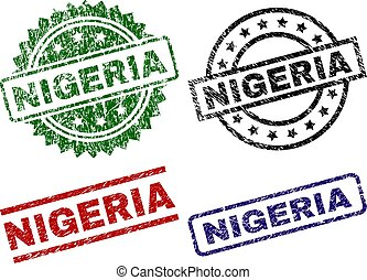 Sellos de sellos de sello de sellos de NIGERIA arañados
