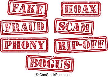 sellos, fraude, scam, falsificación