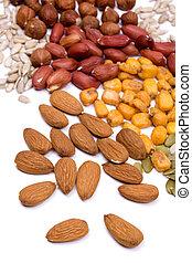 semillas, bocado sano, nueces