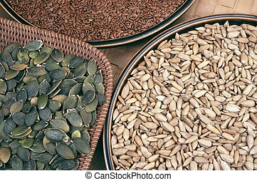 semillas, flix, girasol, calabaza