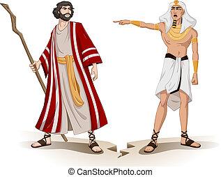 sends, faraón, pascua, moses, lejos