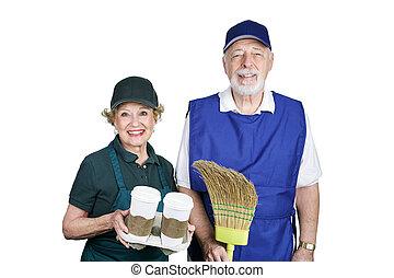 Seniors en la fuerza de trabajo