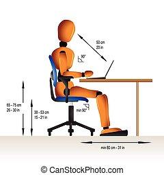 Sentada ergonómica