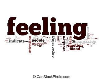 sentimiento, palabra, nube