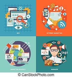 seo, mercadotecnia, internet, plano