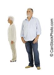 separado, pareja, anciano