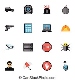 ser, conjunto, precaución, móvil, icons., lata, 16, editable, utilizado, incluye, símbolos, infographic, ui, tela, ventana trasera, tal, procuring, contraseña, more., design.