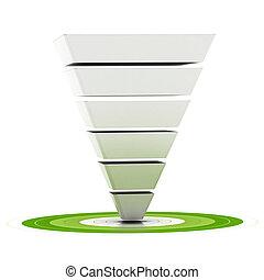 ser, diagrama, embudo, lata, encima, etapas, blanco, plano de fondo, fácilmente, embudo, señalar, ventas, customizable, verde, utilizado, seis, mercadotecnia, blanco