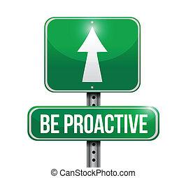 ser, ilustración, señal, diseño, proactive, camino