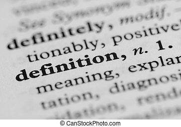 Serie de diccionario, definición