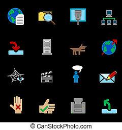 Serie de iconos en Internet