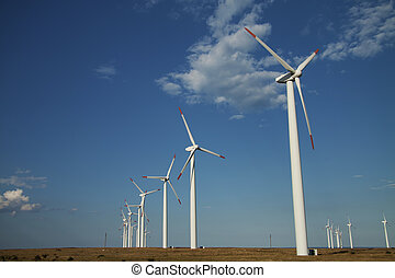 Series de generadores de energía eólica