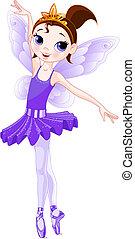 series)., violeta, (rainbow, bailarinas, colores, bailarina