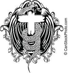 Serpiente con cruz