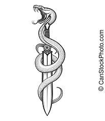 serpiente, espada