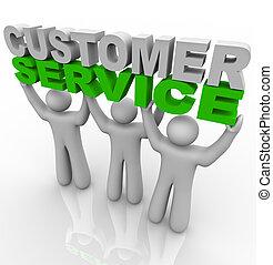 Servicio de clientes - levantando las palabras