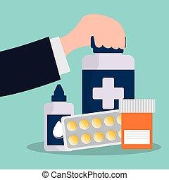 Servicio de farmacias de botella