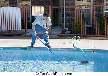 Servicio de piscina de otoño
