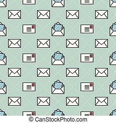 Servicio postal Vector Seamless Patrón aislado fondo de papel tapiz