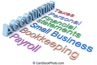servicios, contabilidad, impuesto, nómina de sueldos, palabras