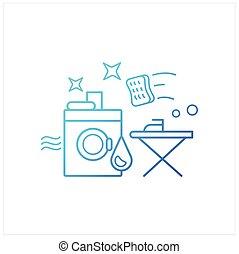 servicios, lavadero, icono, gradiente