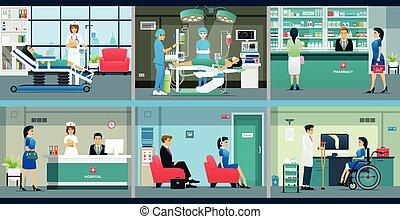 servicios, médico