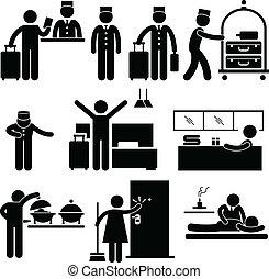 servicios, trabajadores, hotel