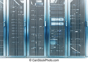 servidor de telecomunicación en el centro de datos