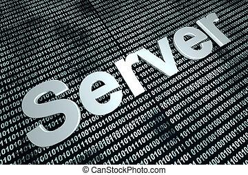 servidor, plano de fondo, binario