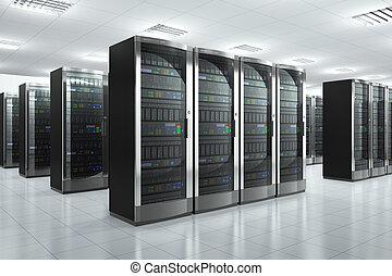 servidores de la red en el centro de datos