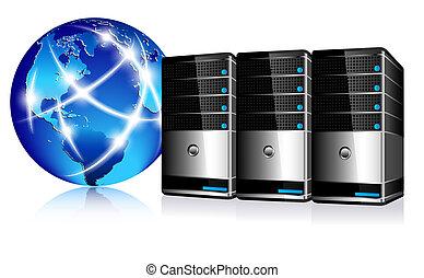 Servidores e Internet de comunicación
