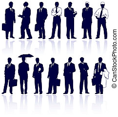 Set de gente de negocios