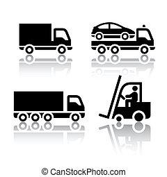 Set de iconos de transporte - camión