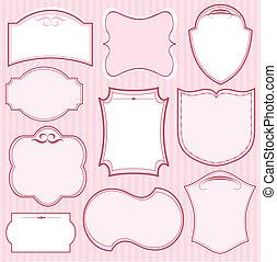 Set de marcos de vector rosa