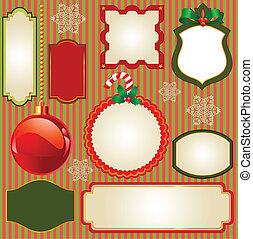 Set de marcos de vectores de Navidad