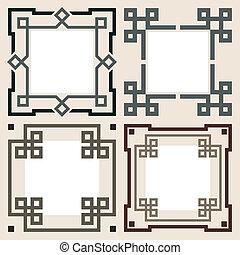 Set de marcos vectores