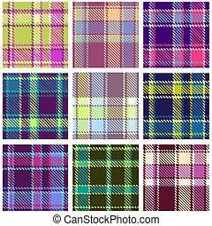 Set de patrón de vector a cuadros